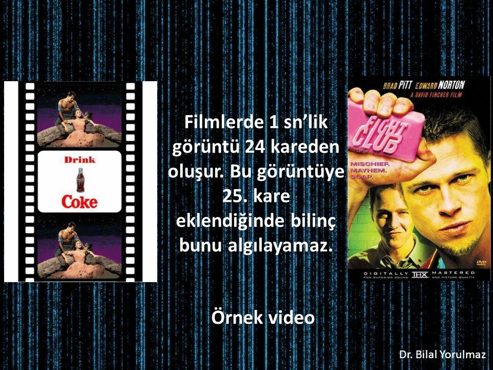 Dr.Bilal Yorulmaz Filmlerde 1 sn'lik görüntü 24 kareden oluşur.