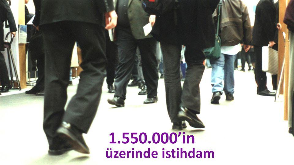 üzerinde istihdam 1.550.000'in