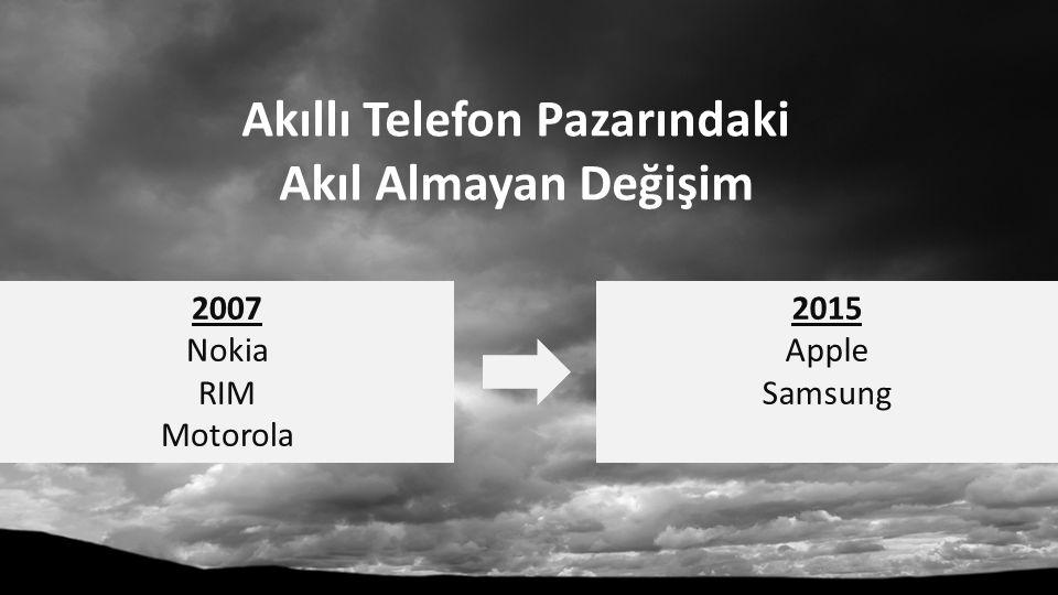 Akıllı Telefon Pazarındaki Akıl Almayan Değişim 2007 Nokia RIM Motorola 2015 Apple Samsung