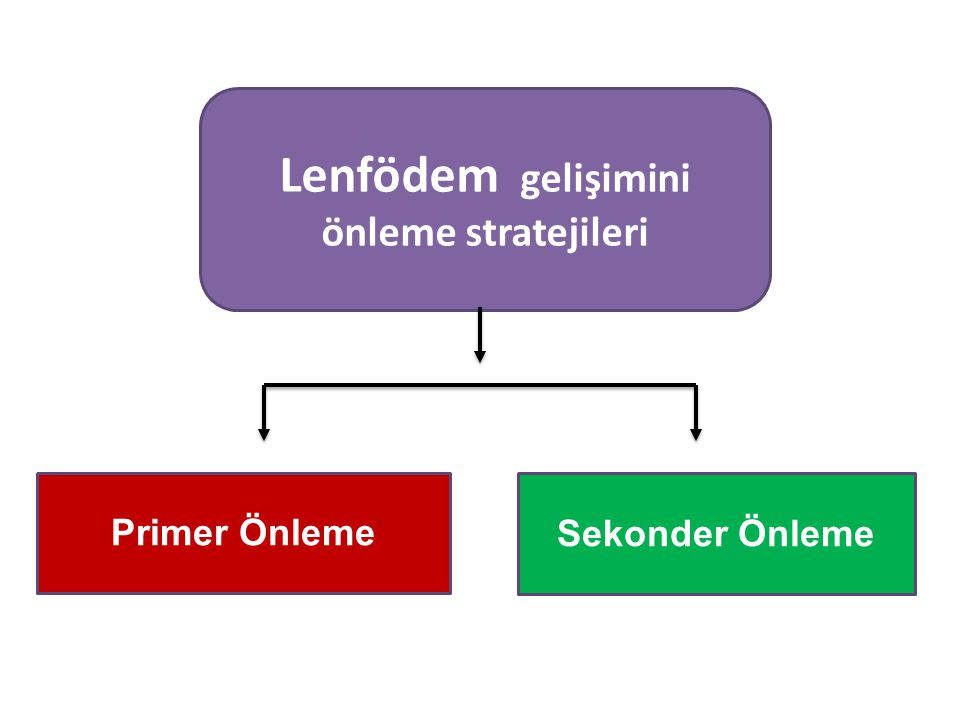 Lenfödem gelişimini önleme stratejileri Primer Önleme Sekonder Önleme