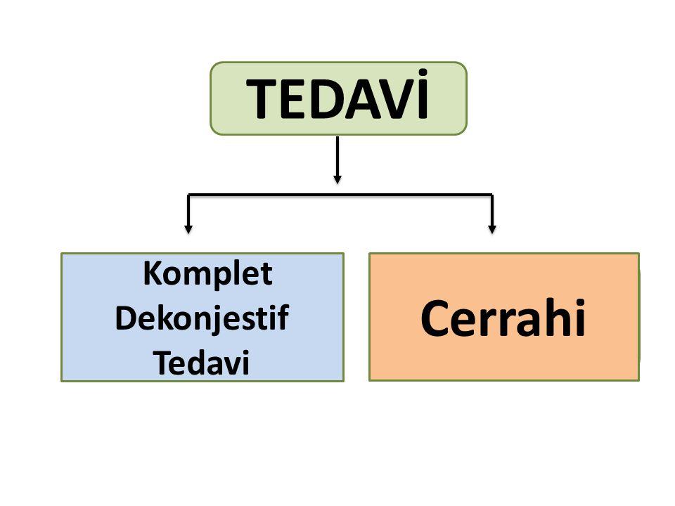 TEDAVİ Komplet Dekonjestif Tedavi Cerrahi