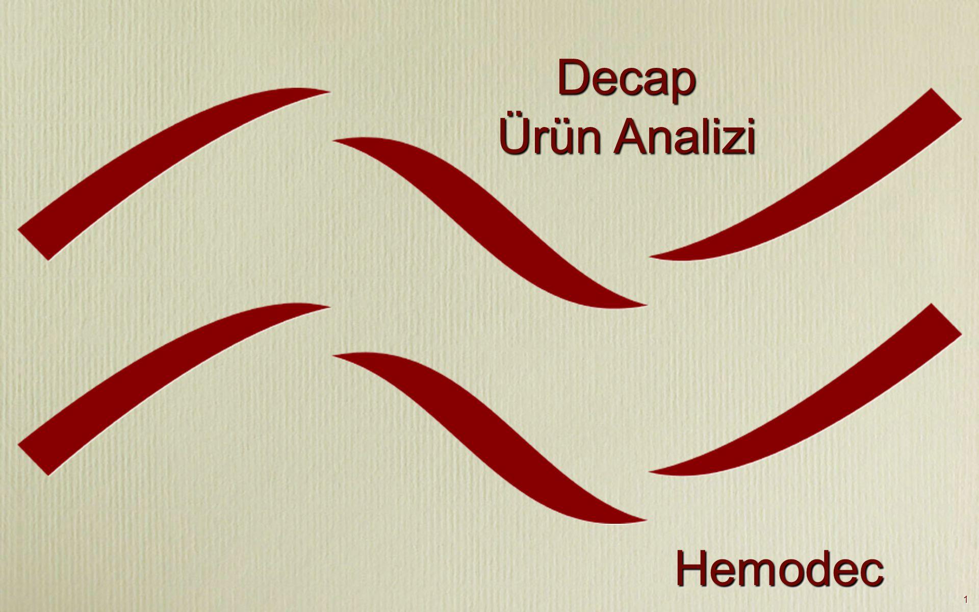 1 Decap Ürün Analizi HemodecHemodec