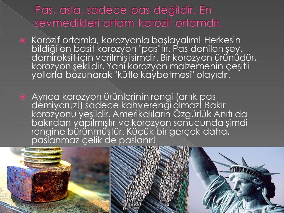  Prof.Dr Saadet Üneri, KOROZYON VE ÖNLENMESİ, Ankara üniversitesi, Fizikokimya anabilim dalı.
