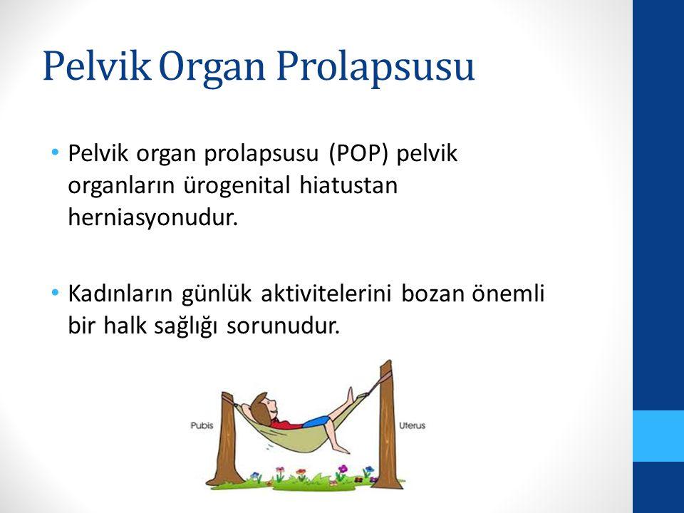 Pelvik Organ Prolapsusu Pelvik organ prolapsusu (POP) pelvik organların ürogenital hiatustan herniasyonudur.