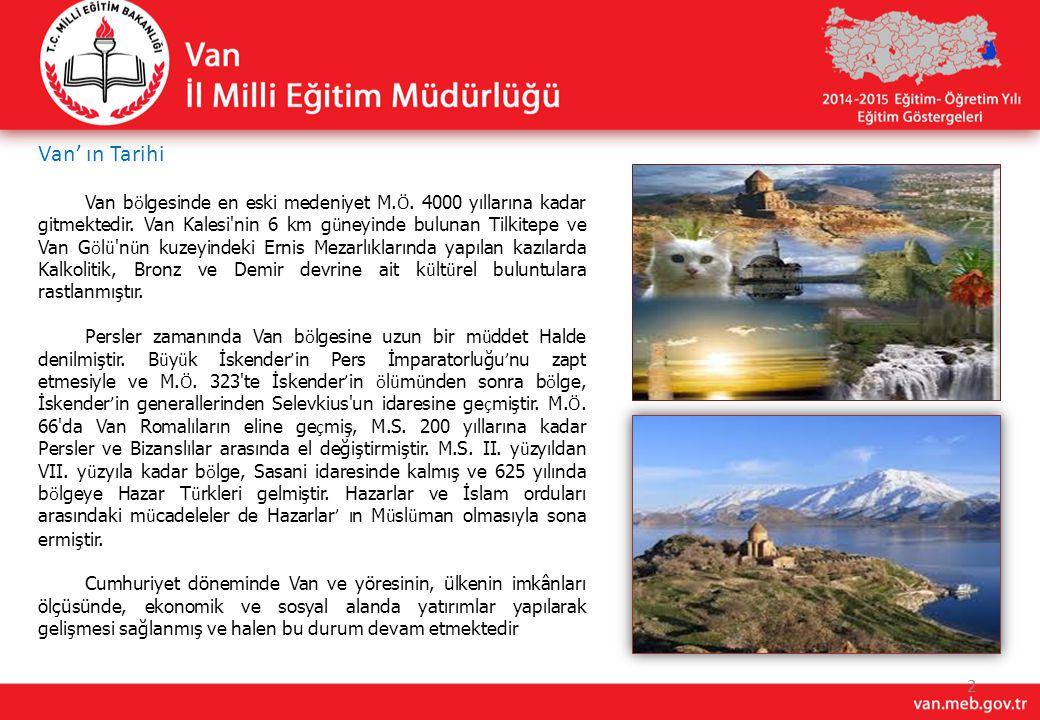 Van' ın Tarihi 2 Van b ö lgesinde en eski medeniyet M. Ö. 4000 yıllarına kadar gitmektedir. Van Kalesi'nin 6 km g ü neyinde bulunan Tilkitepe ve Van G