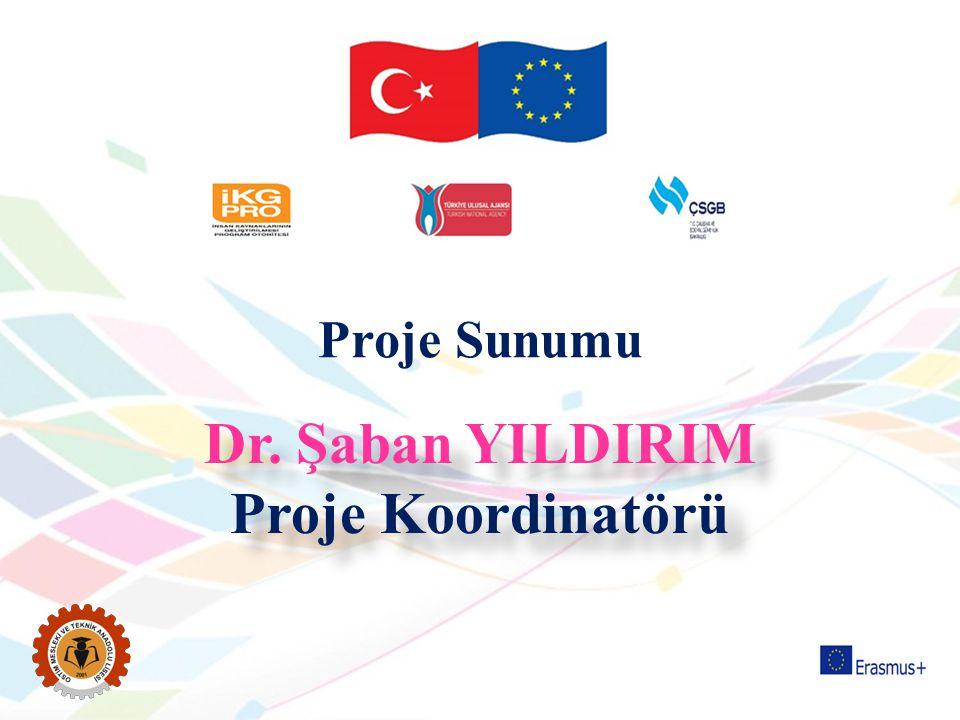 Dr. Şaban YILDIRIM Proje Koordinatörü Dr. Şaban YILDIRIM Proje Koordinatörü Proje Sunumu