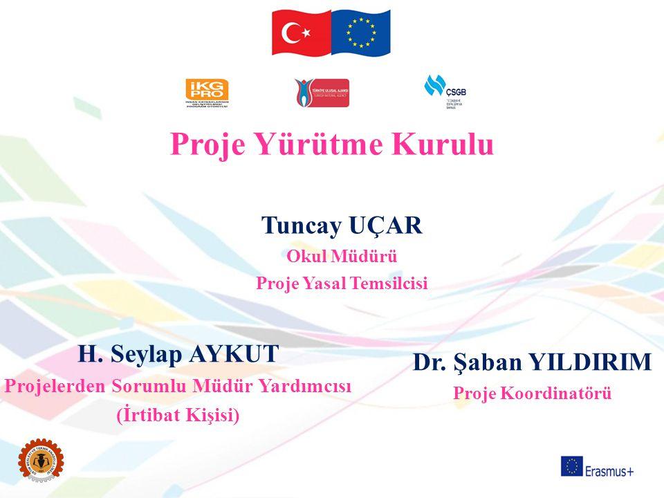 Dr. Şaban YILDIRIM Proje Koordinatörü H. Seylap AYKUT Projelerden Sorumlu Müdür Yardımcısı (İrtibat Kişisi) Tuncay UÇAR Okul Müdürü Proje Yasal Temsil
