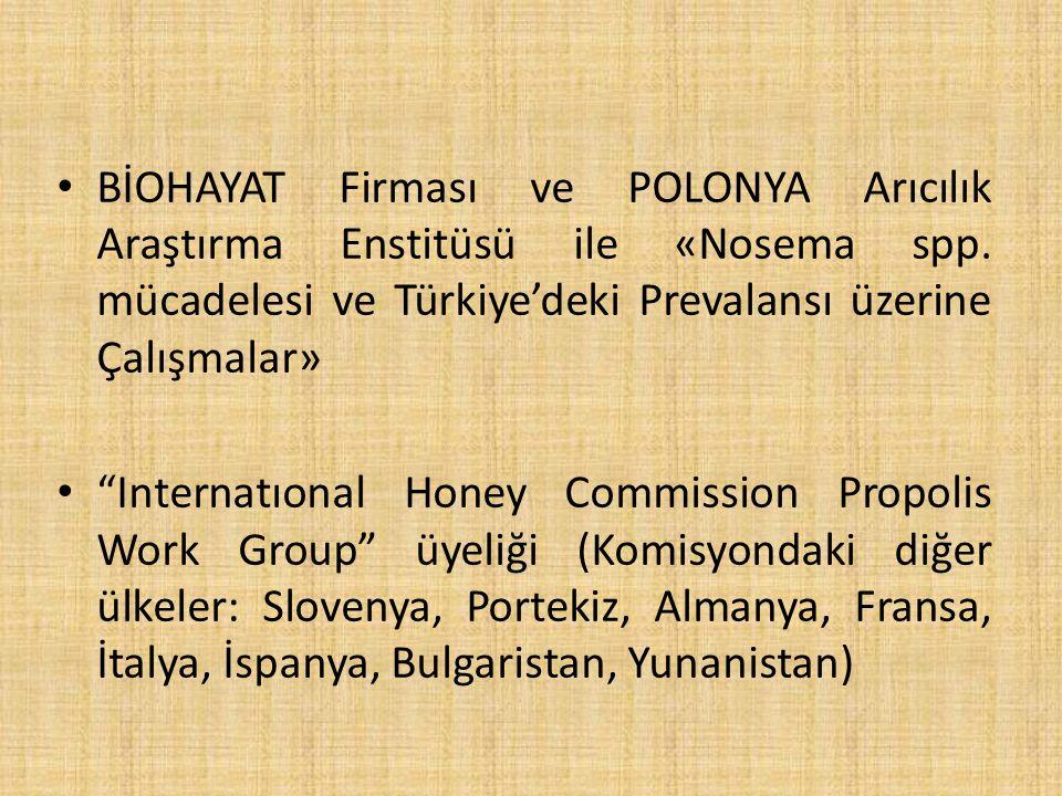 BİOHAYAT Firması ve POLONYA Arıcılık Araştırma Enstitüsü ile «Nosema spp.