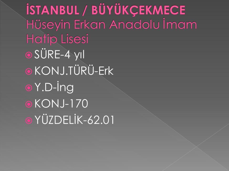  SÜRE-4 yıl  KONJ.TÜRÜ-Erk  Y.D-İng  KONJ-170  YÜZDELİK-62.01