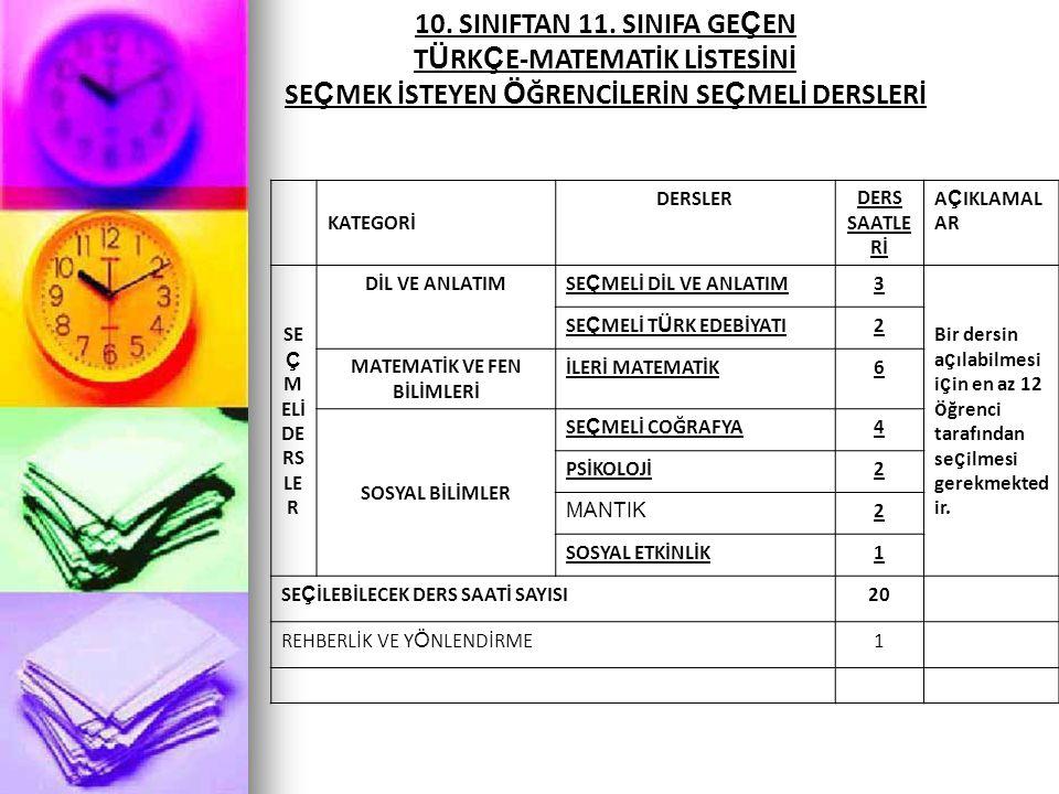 10. SINIFTAN 11.