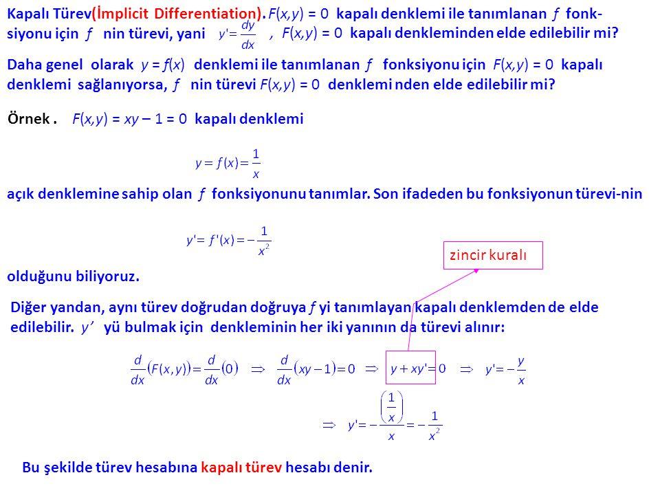 Gelirdeki haftalık değişim oranı G (x) (x) = 10x – (0.001) x2x2 dir ve x = 2000 iken( olduğu da anımsanarak) den haftada 3000 TL (artış) olarak elde edilir.