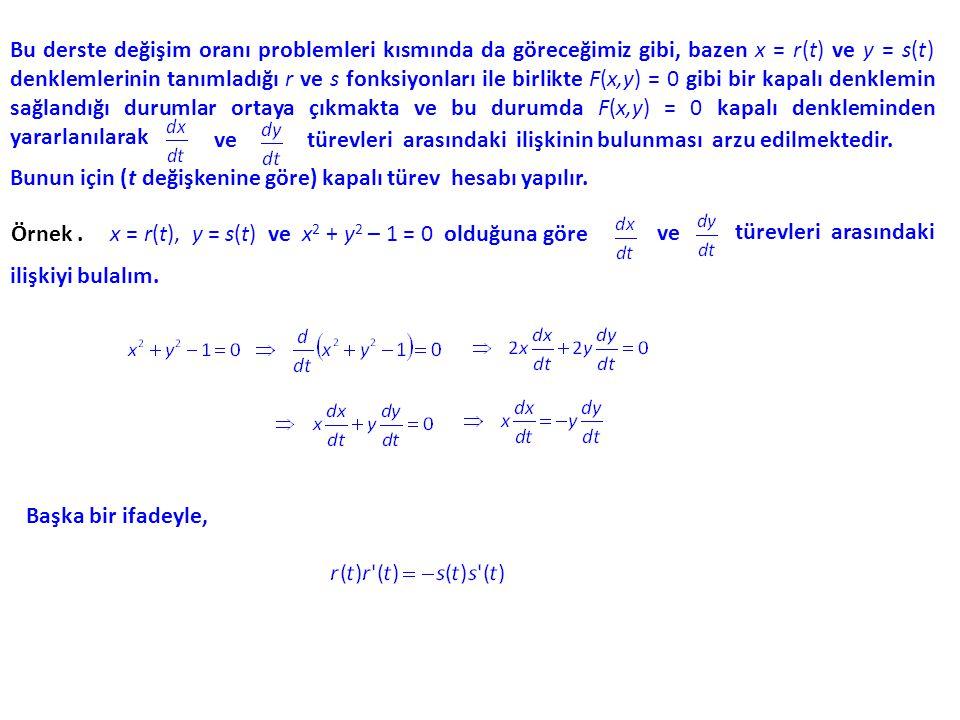 Bu eğri üzerinde bir (x 0, y 0 ) noktası ( yani, F (x 0, y 0 ) = 0 olan bir (x 0, y 0 ) ) için o noktadaki teğetin eğimi, y nün (x 0, y 0 ) için değeridir ve teğetin denklemi, y nün (x 0, y 0 ) için değeri m olmak üzere y = m(x - x0) x0) + y0y0 dır.