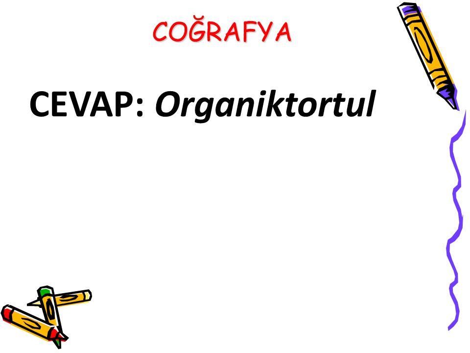 CEVAP: Organiktortul COĞRAFYA