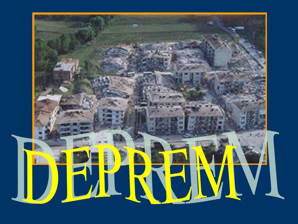 DEPREM A.TANIMI Yer kabuğunun derin katmanlarının kırılıp yer değiştirmesi yada yanardağların püskürme durumuna gelmesi nedeniyle oluşan sarsıntılardır.