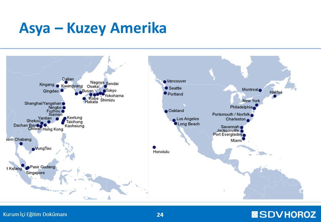Kurum İçi Eğitim Dokümanı Asya – Kuzey Amerika 24