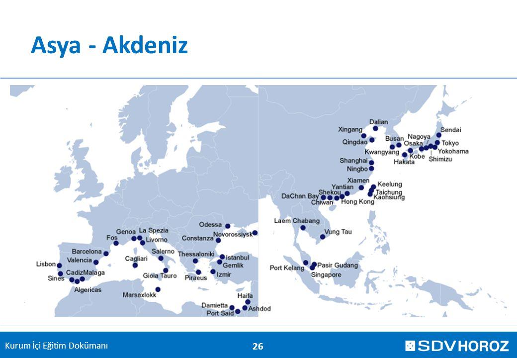 Kurum İçi Eğitim Dokümanı Asya - Akdeniz 26