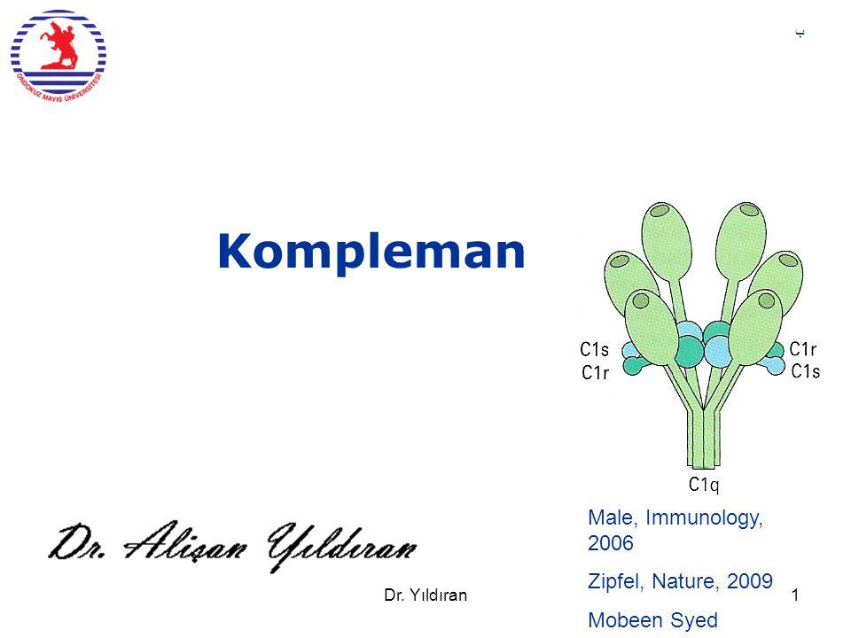 Kompleman Male, Immunology, 2006 Zipfel, Nature, 2009 Mobeen Syed ب Dr. Yıldıran1