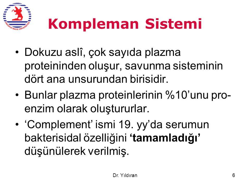Kompleman Sistemi Dokuzu aslî, çok sayıda plazma proteininden oluşur, savunma sisteminin dört ana unsurundan birisidir. Bunlar plazma proteinlerinin %