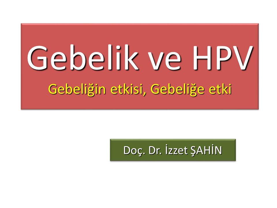 Gebelik ve HPV Gebeliğin etkisi, Gebeliğe etki Doç. Dr. İzzet ŞAHİN