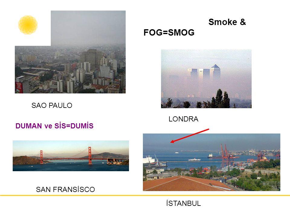 Smoke & FOG=SMOG LONDRA SAO PAULO SAN FRANSİSCO DUMAN ve SİS=DUMİS İSTANBUL