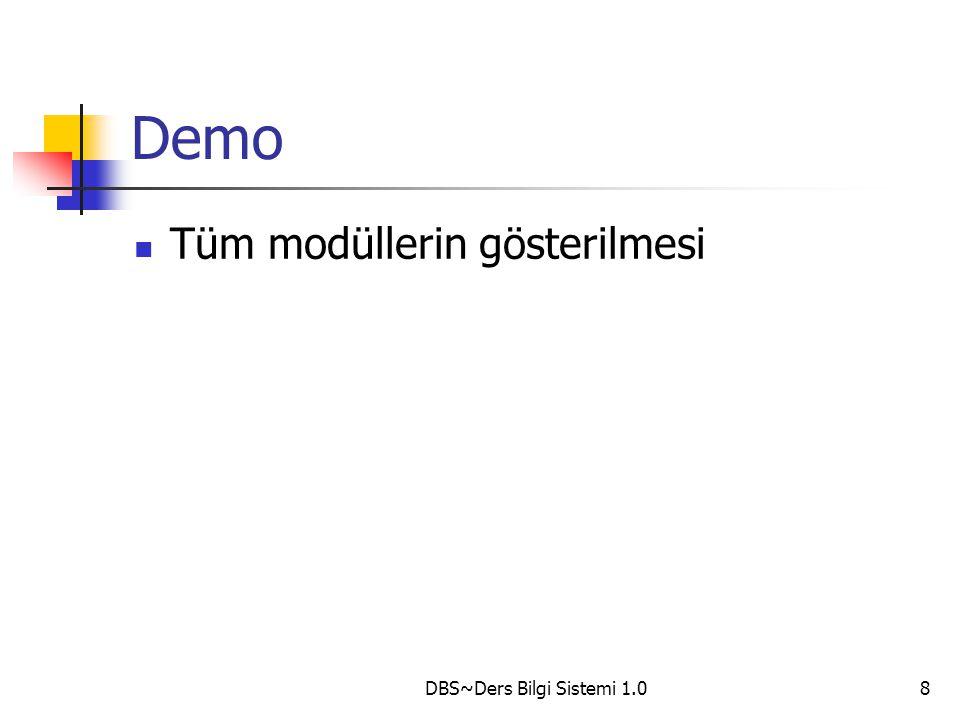 DBS~Ders Bilgi Sistemi 1.09 ETKİN DBS !!!!!!!.