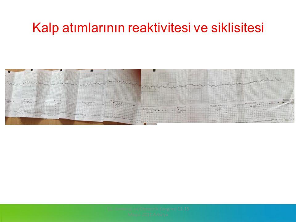 Kalp atımlarının reaktivitesi ve siklisitesi 13. Jinekoloji ve Obstetrik Kongresi 11-15 Mayıs 2015 Antalya