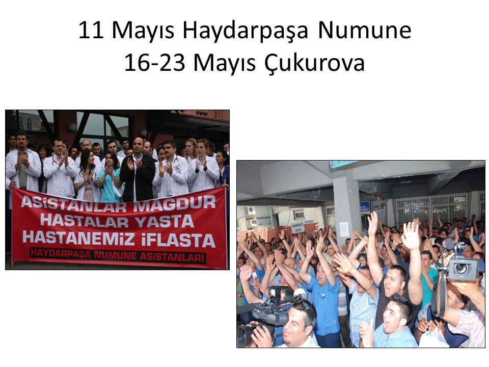11 Mayıs Haydarpaşa Numune 16-23 Mayıs Çukurova