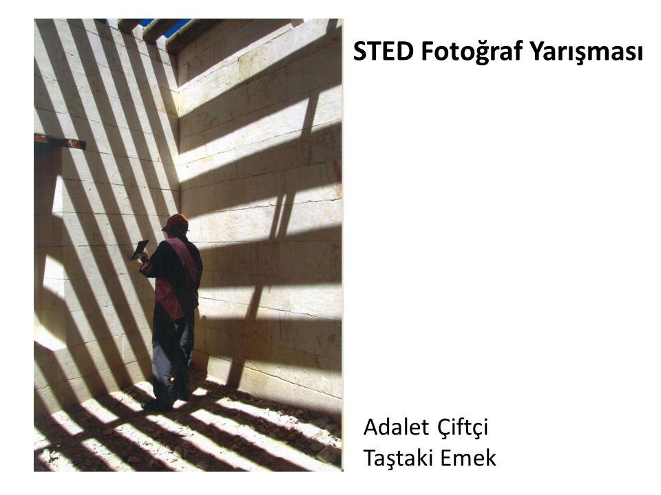 STED Fotoğraf Yarışması Adalet Çiftçi Taştaki Emek