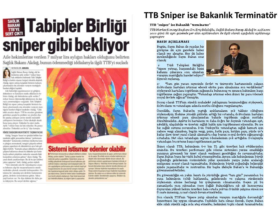 TTB Sniper ise Bakanlık Terminatör