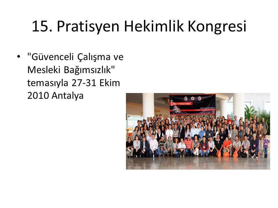 15. Pratisyen Hekimlik Kongresi
