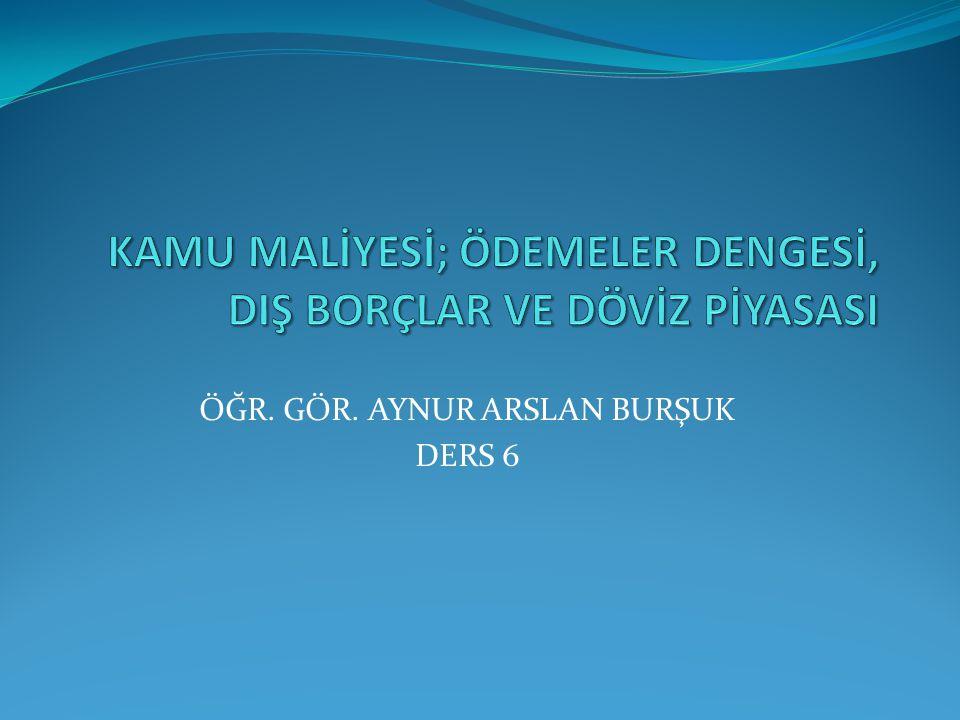 DIŞ BORÇLAR Türkiye ulusal düzeyde fon açığı veren bir ülkedir.