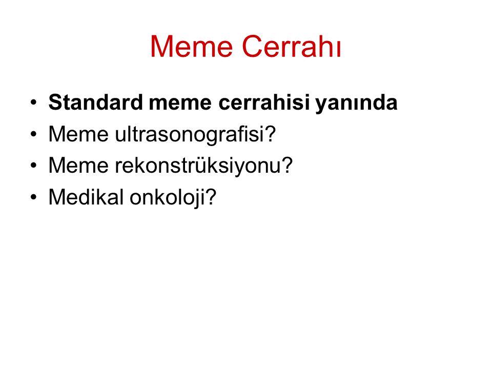 Meme Cerrahı Standard meme cerrahisi yanında Meme ultrasonografisi.