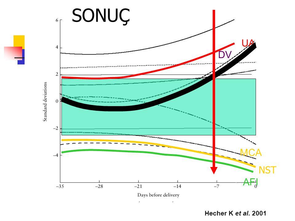 Hecher K et al. 2001 UA MCA AFI DV NST UA MCA AFI DV NST SONUÇ
