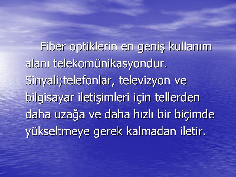 Fiber optiklerin en geniş kullanım alanı telekomünikasyondur.
