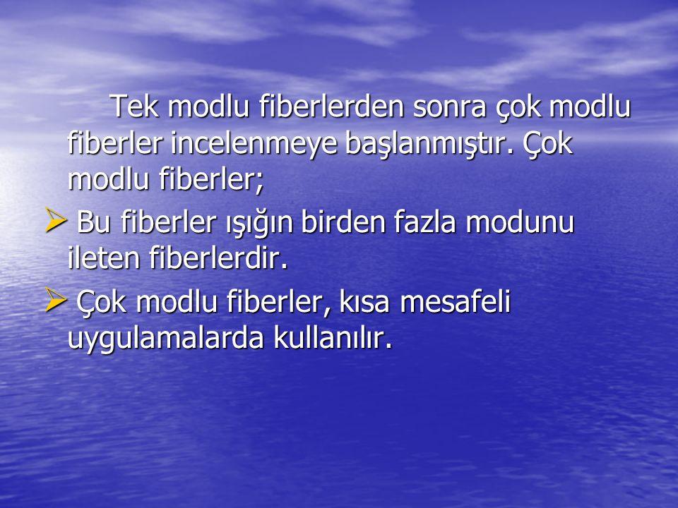 Tek modlu fiberlerden sonra çok modlu fiberler incelenmeye başlanmıştır.