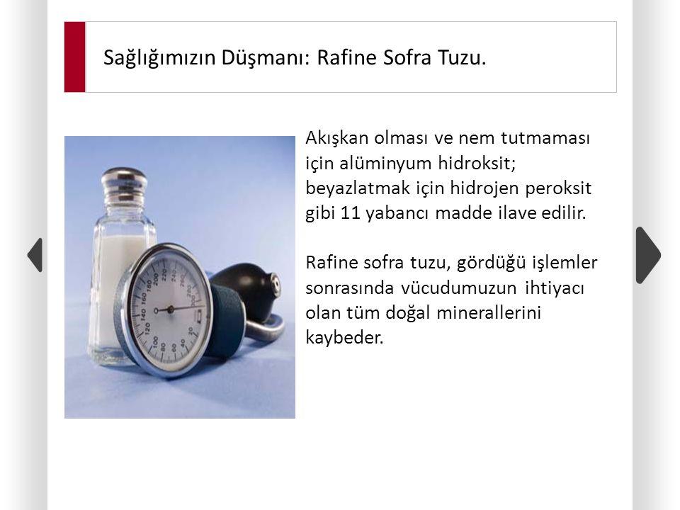 Sağlığımızın Düşmanı: Rafine Sofra Tuzu.