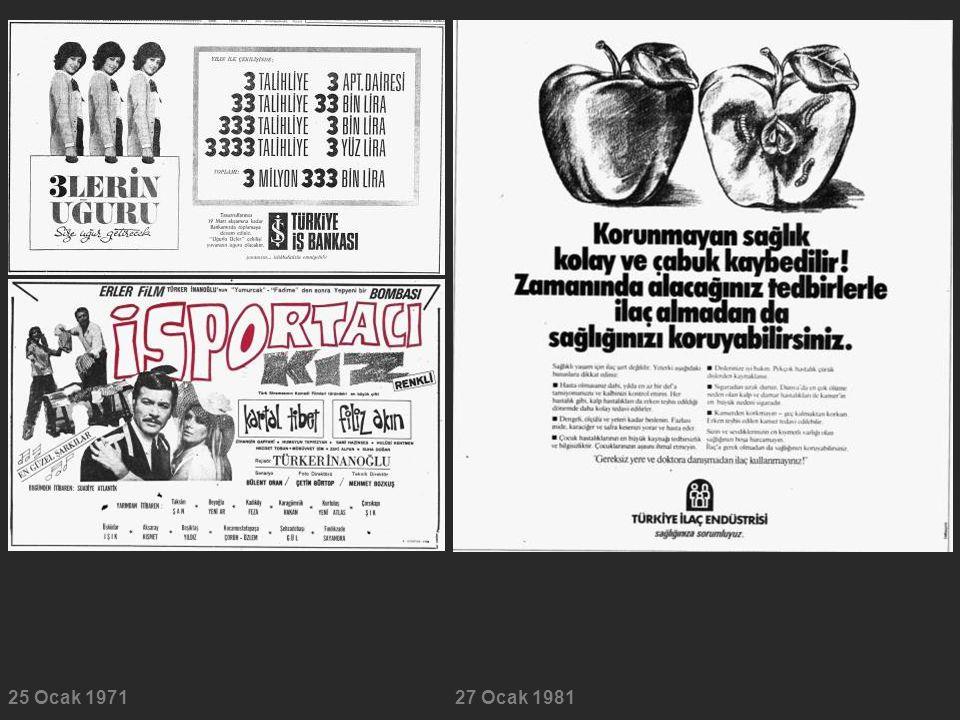 25 Ocak 197127 Ocak 1981