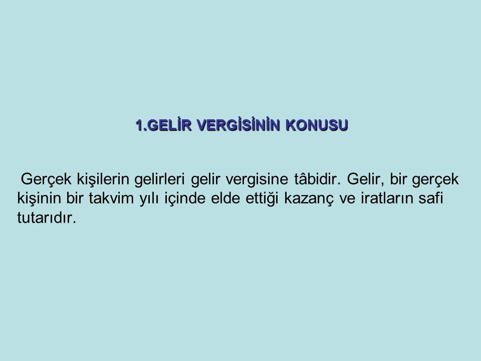 Dar Mükellefiyet Esası Türkiye'de yerleşmiş sayılmayan gerçek kişiler dar mükellefiyet esasında vergilendirilirler.