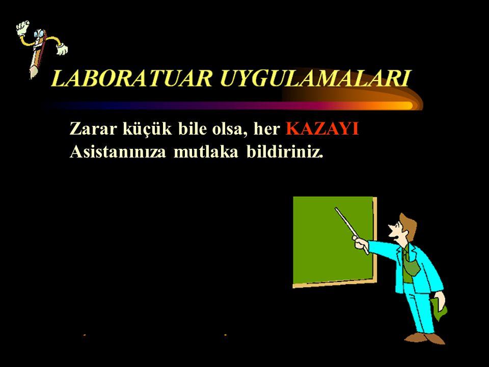 Zarar küçük bile olsa, her KAZAYI Asistanınıza mutlaka bildiriniz.