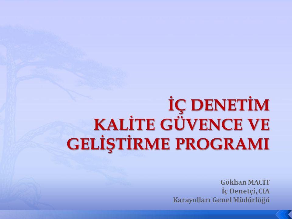  Kalite Kavramı  İç Denetim Faaliyetinde Kalite Güvence  İç Değerlendirme Süreci  Dış Değerlendirme Süreci  Standartlara Uyum Kriterleri  Raporlama  İç Denetim Birimi Başkanlarından Beklentiler AFYONKARAHİSAR, 2012 İDKK İç Denetim Kalite Güvence ve Geliştirme Programı 3