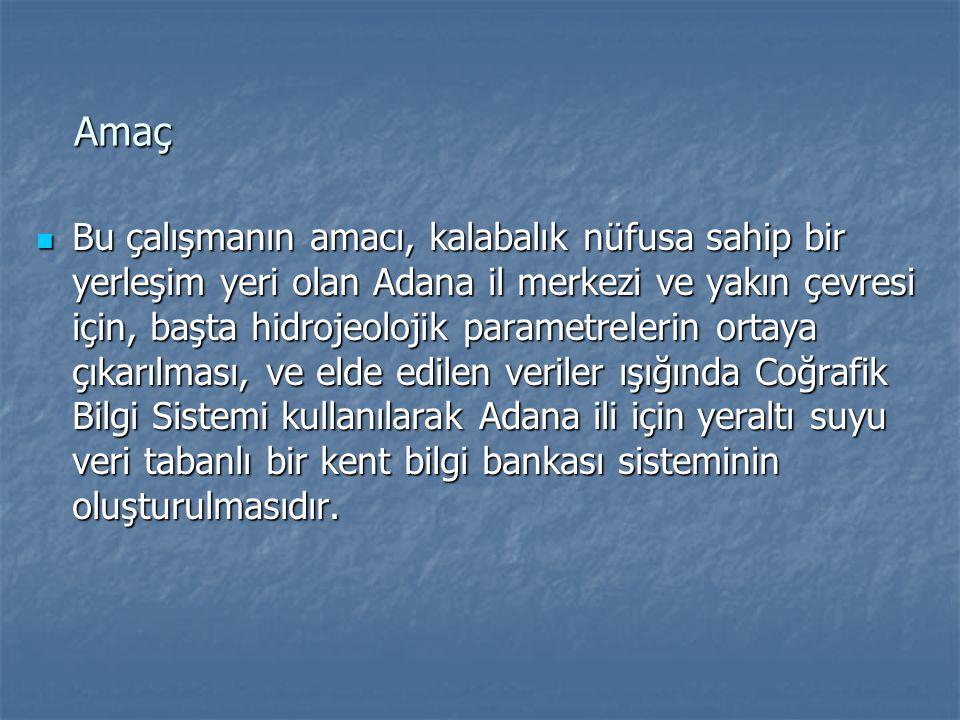 İnceleme Alanının Tanıtılması Adana ili ve yakın çevresi topoğrafik açıdan dağlık ve ovalık alan olmak üzere iki bölümden oluşmaktadır.