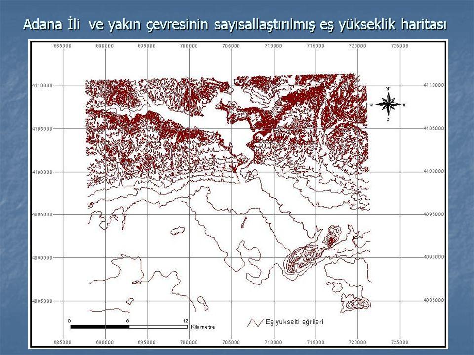 Adana İli ve yakın çevresine ait eş yükseklik modeli