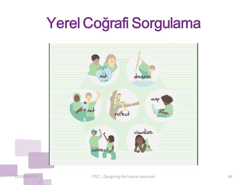 Yerel Coğrafi Sorgulama DD/MM/YYYYiTEC - Designing the future classroom64