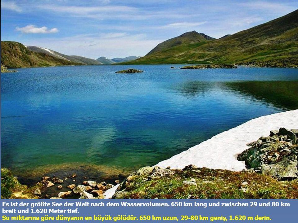 Seine Tiefe ist so groß, dass sein Wasser das ganze Land mit einer Schicht von 20 cm überfluten könnte.