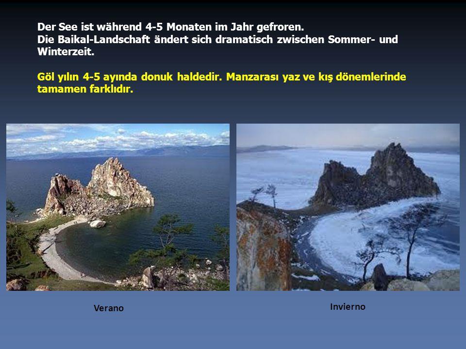Der Permafrost ist der Grund für die einzigartige Transparenz seines Wassers. Auf dem Foto ist einer der 330 Flüsse, die den Baikalsee speisen. Suyunu