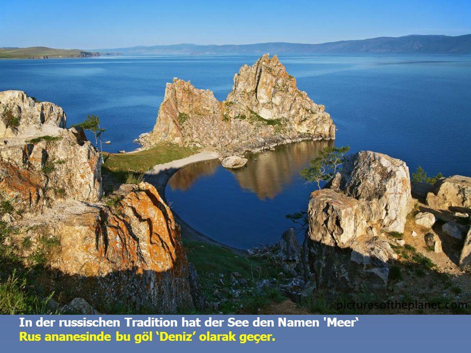 Der See ist während 4-5 Monaten im Jahr gefroren. Die Baikal-Landschaft ändert sich dramatisch zwischen Sommer- und Winterzeit. Göl yılın 4-5 ayında d