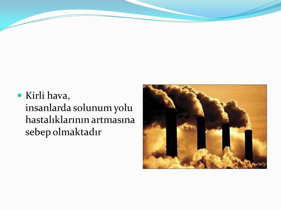 Kirli hava, insanlarda solunum yolu hastalıklarının artmasına sebep olmaktadır