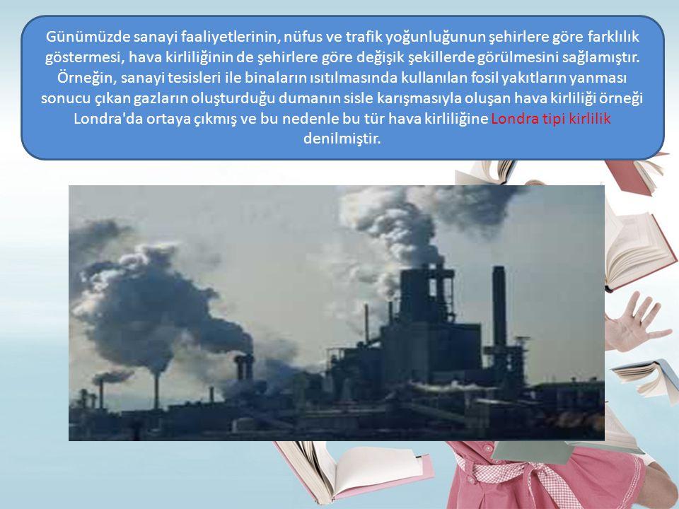 Bu tür hava kirliliği görüldüğü şehirlerde; cilt ve gözlerde tahrişe, bronşit ve amfizem gibi solunum yolu hastalıklarına neden olur.