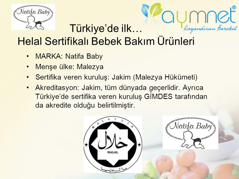 Türkiye'de ilk… Helal Sertifikalı Bebek Bakım Ürünleri MARKA: Natifa Baby Menşe ülke: Malezya Sertifika veren kuruluş: Jakim (Malezya Hükümeti) Akredi