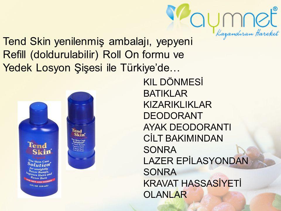 Tend Skin yenilenmiş ambalajı, yepyeni Refill (doldurulabilir) Roll On formu ve Yedek Losyon Şişesi ile Türkiye'de… KIL DÖNMESİ BATIKLAR KIZARIKLIKLAR